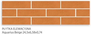 Aquarius Beige 24,5x6,58x0,74