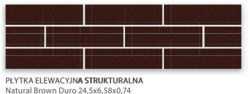 Natural Brown Duro 24,5x6,58x0,74